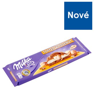 Milka Milk Chocolate from The Alpine Milk Filled with Milk Filling and Caramel Flavour 300 g