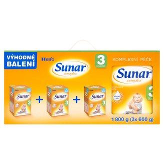 Sunar Complex 3 sušená mliečna výživa pre malé deti 3 x 600 g