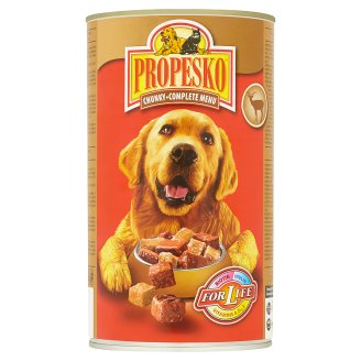 Propesko Complete Food for Adult Dogs with Pieces of Venison and Poultry in Sauce 1240 g