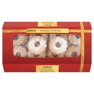 Tesco Linzer Flowers 300 g
