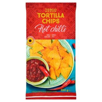 Tesco Tortilla Chips Hot Chilli 200 g