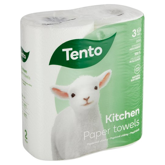 Tento Kitchen Innovations Paper Towels 2 Rolls