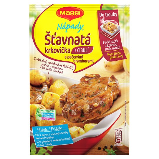 MAGGI Nápady Juicy Pork with Onion and Baked Potatoes 34 g