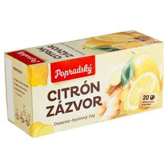 Popradský Citrón zázvor ovocno-bylinný čaj 20 x 2 g