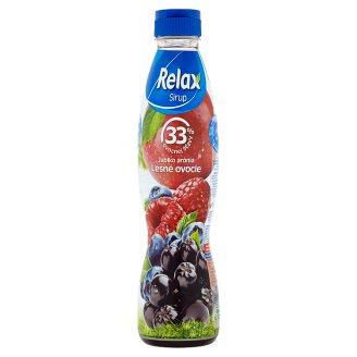 Relax Sirup jablko arónia lesné ovocie 700 ml
