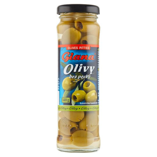 Giana Spanish Green Olives Pitted in Brine 140 g