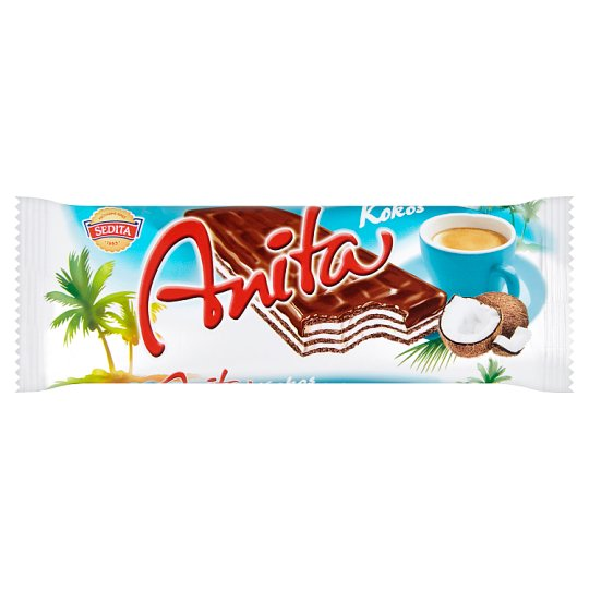 Sedita Anita Coconut Dark Wafers in Cocoa Coating 50 g
