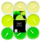 F&F Home Lime Tea Lights Mixed 18 pcs