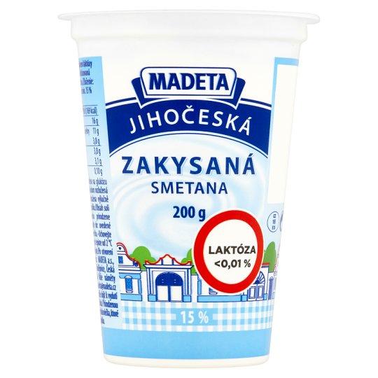 Madeta Jihočeská Kyslá smotana 15 % 200 g
