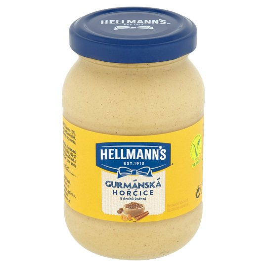Hellmann's Mustard Gourmet with 8 Varieties of Spices 240 g