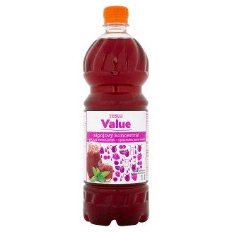 Tesco Value Nápojový koncentrát s príchuťou lesné ovocie 1 l