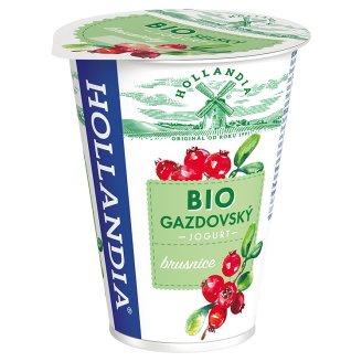 Hollandia Bio jogurt gazdovský brusnice s kultúrou BiFi 180 g