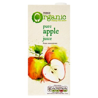 Tesco Organic Bio Pure Apple Juice from Concentrate 1 L