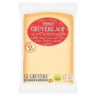 Tesco Gruyere AOP švajčiarsky plnotučný tvrdý syr z nepasterizovaného mlieka 195 g