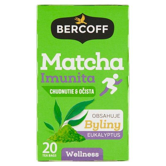 Bercoff Matcha imunita chudnutie & očista bylinný čaj 20 x 1,75 g