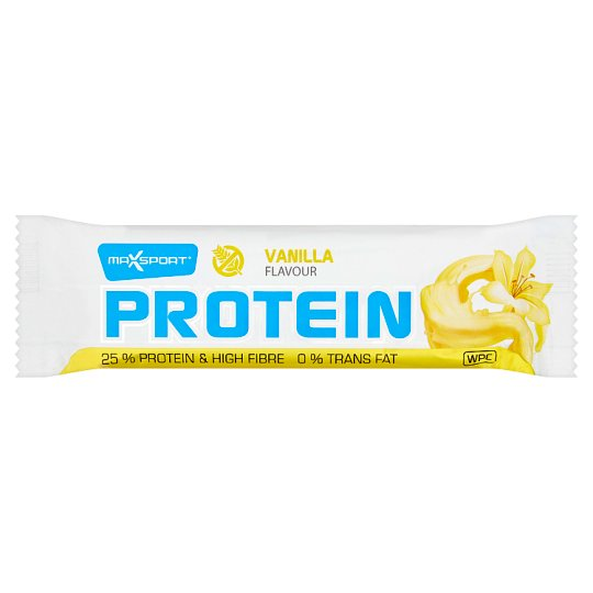 MaxSport Protein Bar in White Coating with Vanilla Flavour 60 g