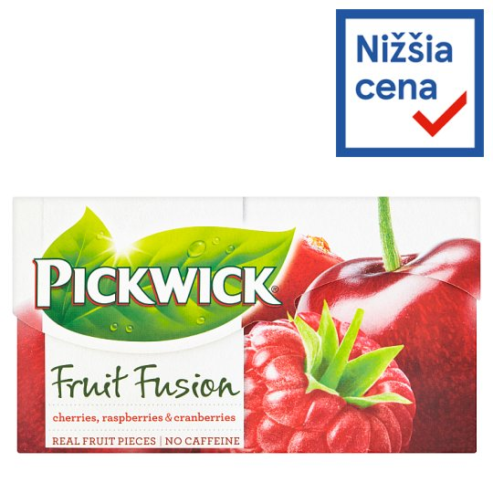Pickwick Fruit Fusion Cherries, Raspberries & Cranberries 20 x 2 g