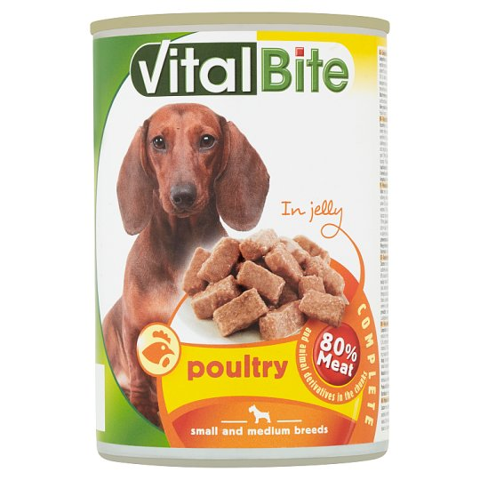 VitalBite Complete Food for Adult Dogs with Poultry in Jelly 415 g