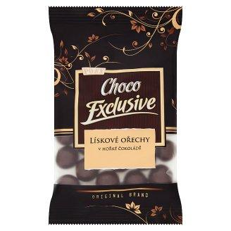 Poex Choco Exclusive Pražené jadrá lieskových orechov v horkej čokoláde 150 g