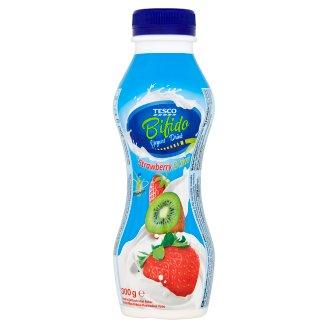 Tesco Bifido Jogurtový nápoj s príchuťou jahôd a kivi 300 g