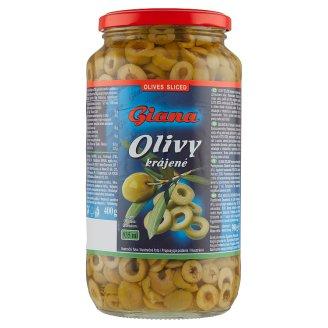 Giana Španielske zelené olivy krájané v slanom náleve 900 g