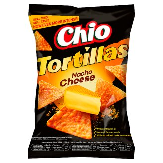 Chio Tortillas Corn Snack with Cheese Flavour 125 g