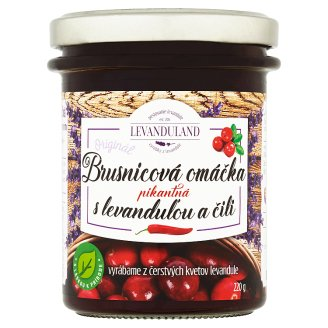 Levanduland Originál brusnicová omáčka s levanduľou a čili pikantná 220 g