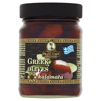 Kaiser Franz Josef Exclusive Grécke čierne olivy kalamata v slanokyslom náleve 250 g