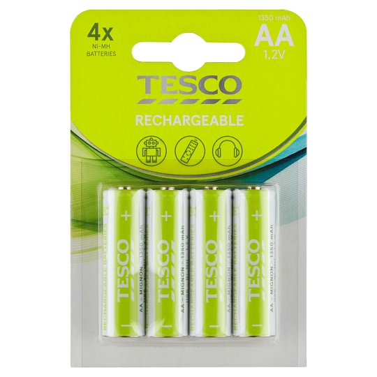 Tesco Rechargeable Batteries 1350 mAh AA 4 pcs