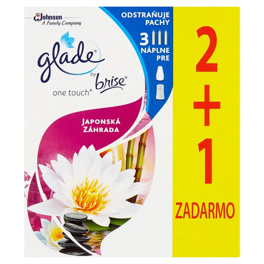 Glade by Brise One Touch Japanese Garden Refill 3 x 10 ml