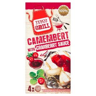 Tesco Grill Camembert a vrecko s brusnicovou omáčkou 4 x 80 g