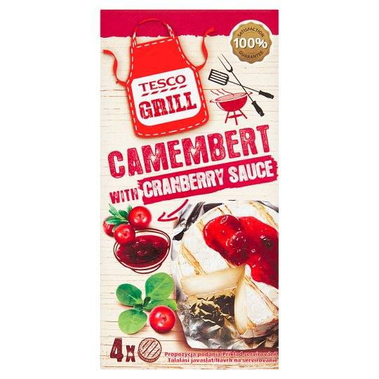 Tesco Grill Camembert and Pocket with Cranberry Sauce 4 x 80 g