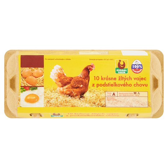 Ovogal Farm Vajcia z podstielkového chovu M a L 10 ks