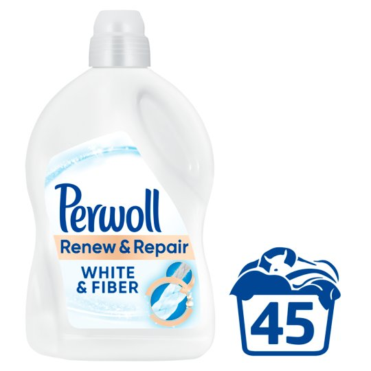 Perwoll renew Advanced Effect White & Fiber 45 praní 2,7 l
