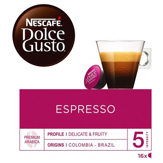 NESCAFÉ Dolce Gusto Espresso - Coffee in Capsules - 16 Capsules Packed