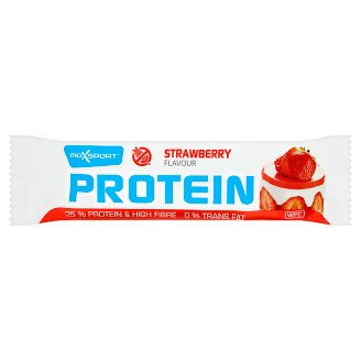 MaxSport Protein Bar with Strawberry Flavour in White Coating 60 g