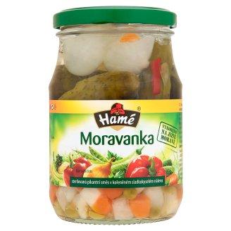 Hamé Moravanka sterilizovaná pikantná zmes v korenenom sladkokyslom náleve 330 g