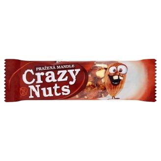 Druid Crazy Nuts Tyčinka s praženými mandľami polomáčaná v mliečnej čokoláde 30 g