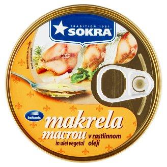 Sokra Makrela v rastlinnom oleji 160 g