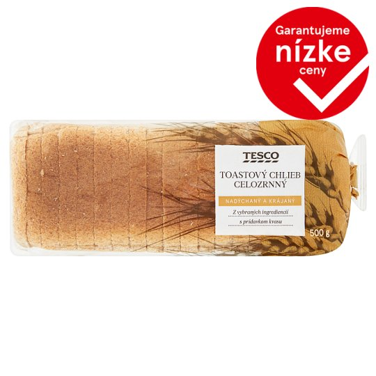 Tesco Wholemeal Toast Bread 500 g