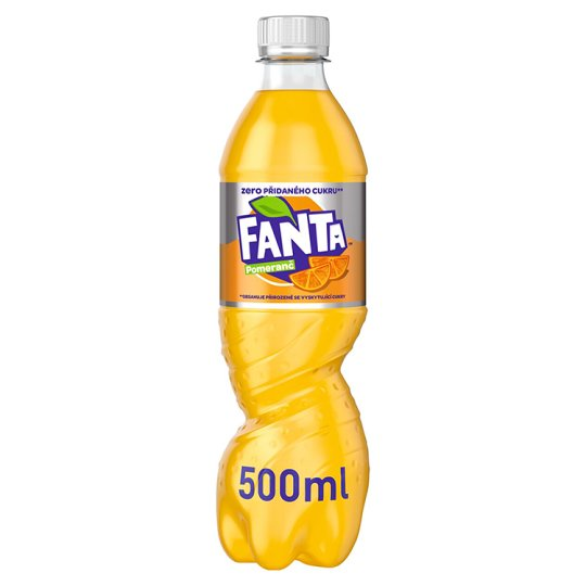 Fanta Zero, pomarančová limonáda, 500 ml