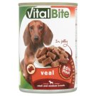 VitalBite Complete Food for Adult Dogs with Veal in Jelly 415 g