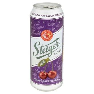 Steiger Radler višňa tmavé nealko light 0,5 l