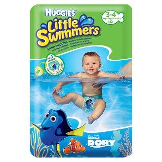 Huggies Little Swimmers Naťahovacie plienky na plávanie 3-4 7-15 kg 12 ks