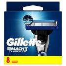 Gillette Mach3 Turbo Razor Blades For Men, 8 Refills