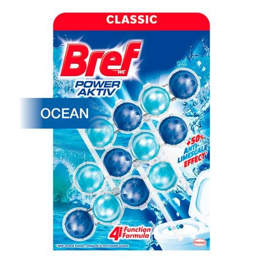 Bref Power Aktiv Ocean tuhý WC blok 3 x 50 g