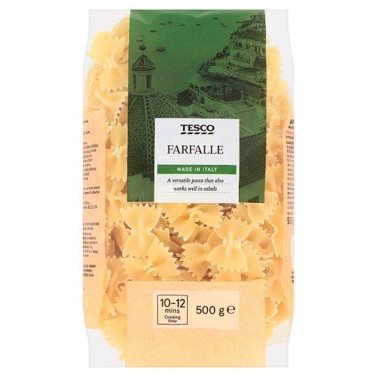 Tesco Farfalle bezvaječné semolinové sušené cestoviny 500 g