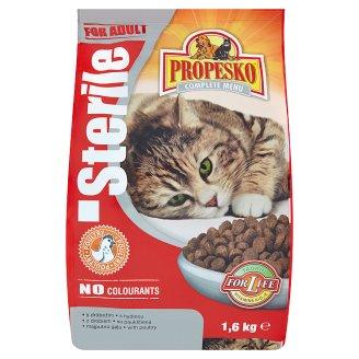 Propesko Sterile kompletné krmivo pre dospelé sterilizované a kastrované mačky s hydinou 1,6 kg