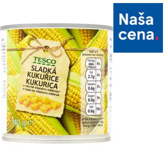 Tesco Sweet Corn in a Slightly Brine 340 g