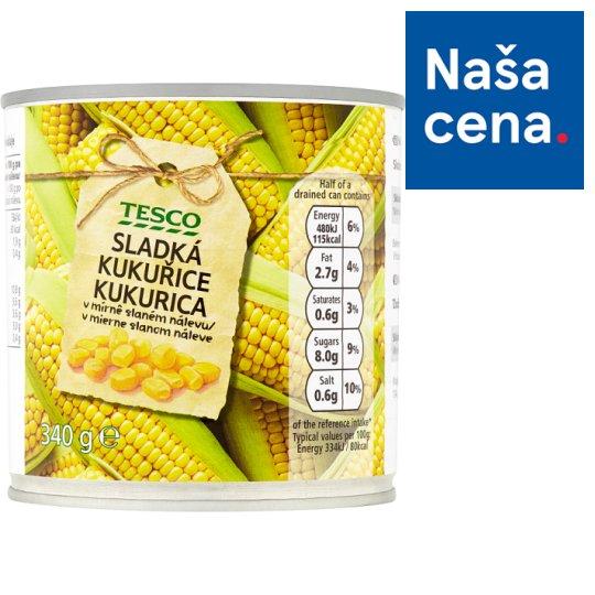 Tesco Sladká kukurica v mierne slanom náleve 340 g